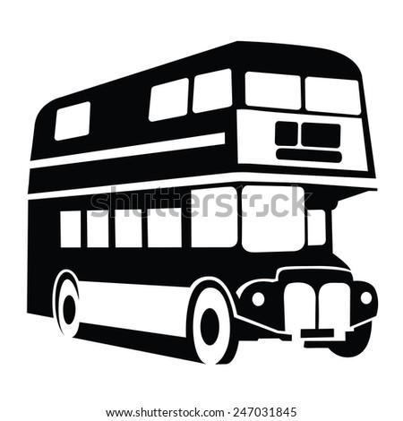 London Bus Symbol - stock vector
