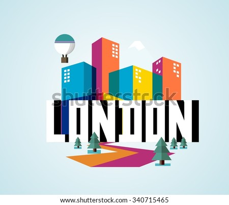 London city in England is a beautiful destination to visit for tourism. - stock vector
