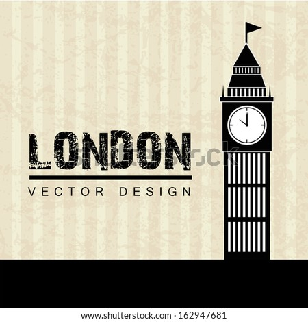 london design over lineal background vector illustration - stock vector