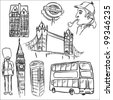 London doodle set - stock