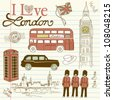 London doodles - stock vector