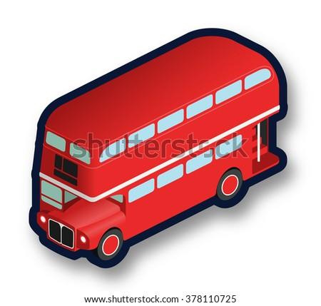 London double decker bus - stock vector