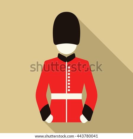 London Guard Vector Icon - stock vector