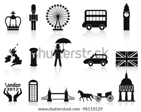 london icons set - stock vector