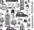 London pattern - stock vector