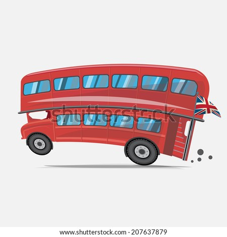 London red bus. Double decker bus - vector illustration