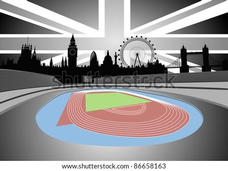 London skyline on the horizon - vector - stock vector
