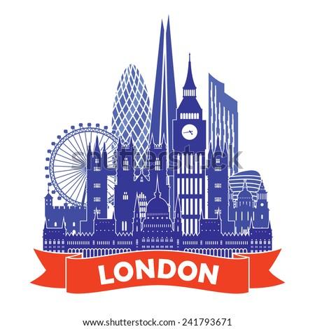 London Skyline. Vector illustration - stock vector