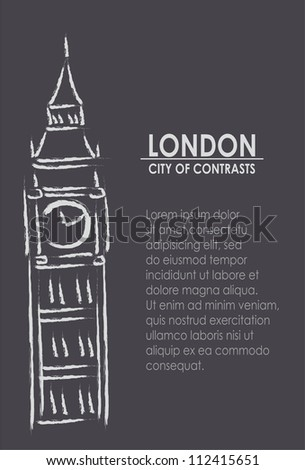London the city of contrasts - stock vector