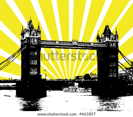 London Tower Bridge - vector poster