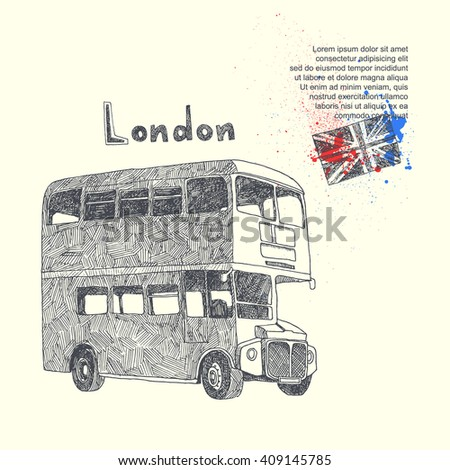 London. vector background with London bus