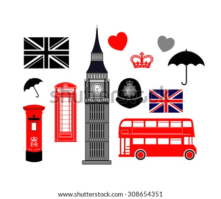 London Vector Collection - Set of icons on theme of Britain
