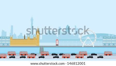 London View - stock vector