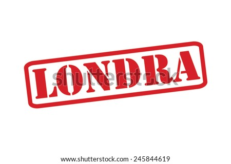 LONDRA ('London' in Italian) Red Rubber Stamp vector over a white background. - stock vector