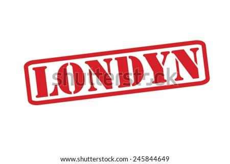 LONDYN ('London' in Polish) Red Rubber Stamp vector over a white background. - stock vector