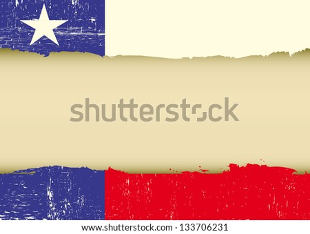Lone Star Flag scratched flag. A texas flag with a large frame for your message - stock vector