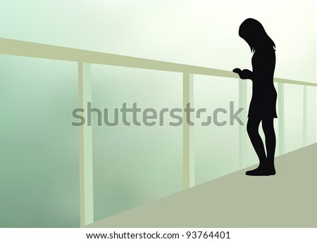 loneliness - stock vector