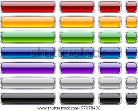 Long and short rectangular buttons. - stock vector