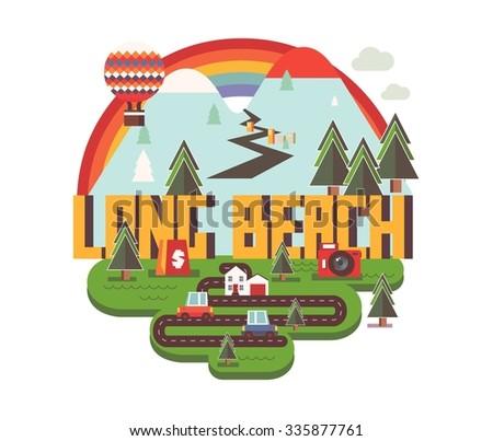 Long beach city logo in colorful vector - stock vector