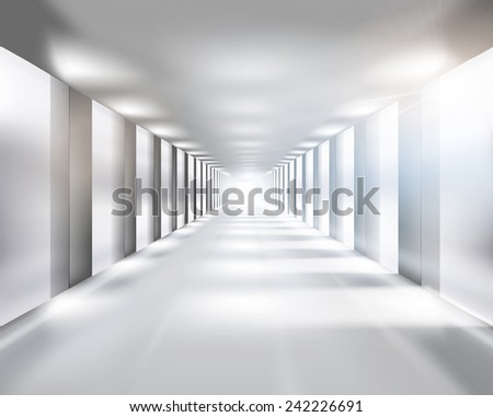 Long passage. Vector illustration. - stock vector