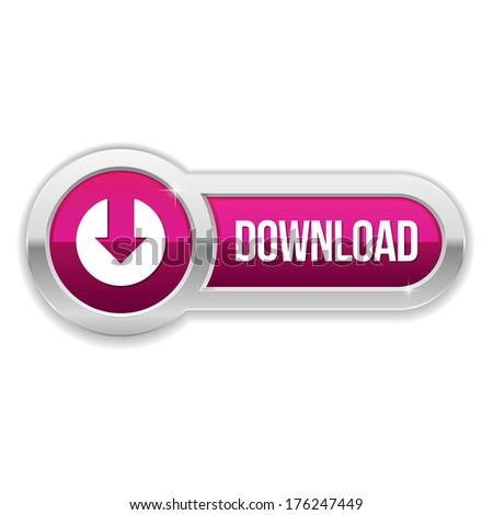 Long purple download button with metallic border