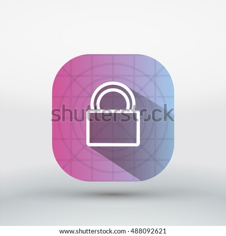 Long shadow Lock App icon