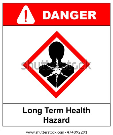 Long Term Health Hazard Man Red Stock Vector 474892291 Shutterstock