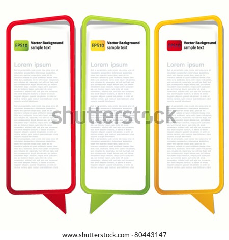 Long vertical oriented sticker in the form of an empty frame for your text. - stock vector