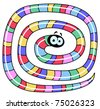 Long worm - stock vector