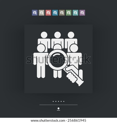 Look for person - stock vector