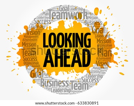 Looking ahead word cloud collage business stock vector royalty free looking ahead word cloud collage business concept background thecheapjerseys Images