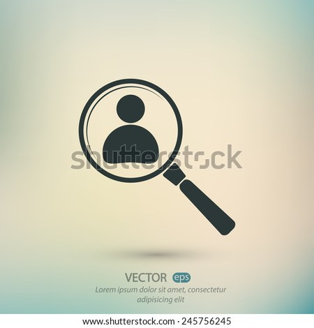 Looking For An Employee Search icon, vector illustration. Flat design style - stock vector