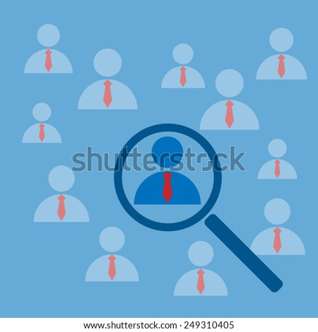 Looking For Employee - stock vector