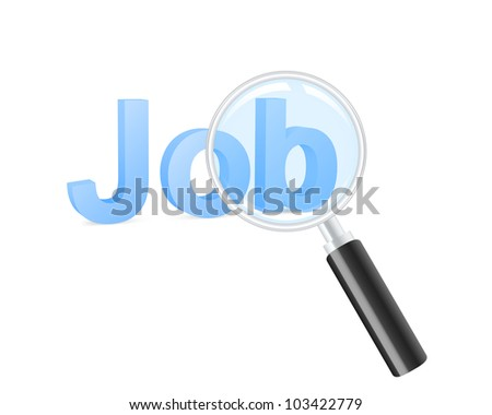 Looking for job. Vector illustration