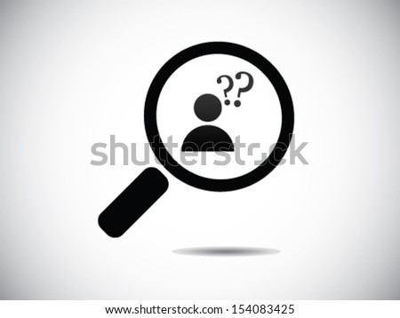 Looking For Someone Confuse - stock vector