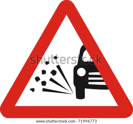 Loose chippings in vector - stock vector