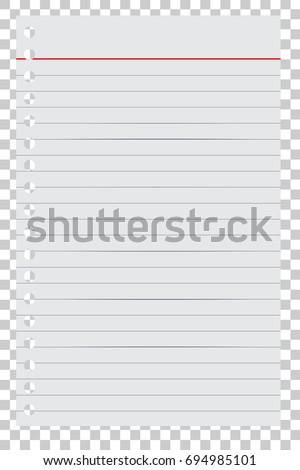 Delightful Loose Leaf Paper For Your Background Or Element Design, At Transparent  Effect Background  Loose Leaf Paper Background
