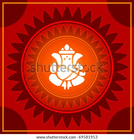 Lord Ganesha Design - stock vector