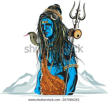 Lord Shiva illustration  - stock vector