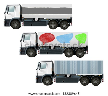 lorry or truck to place your concept. vector design - stock vector
