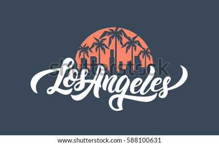 Los Angeles lettering t-shirt design. Vector illustration.