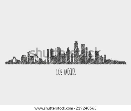 Los angeles movument - stock vector