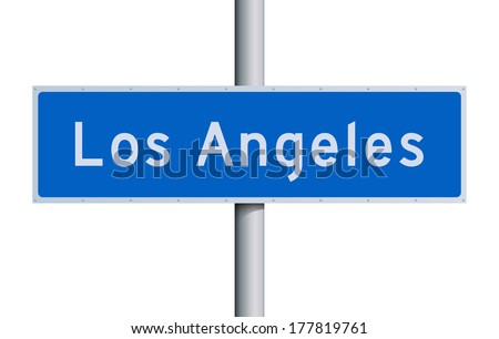 Los Angeles road sign - stock vector