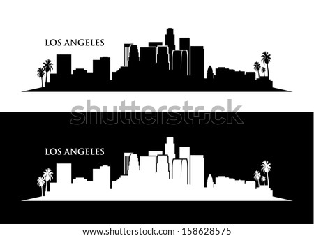 los angeles skyline vector illustration
