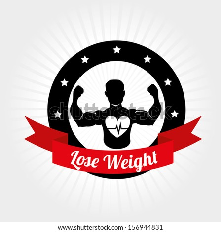 lose weight design over white background vector illustration  - stock vector