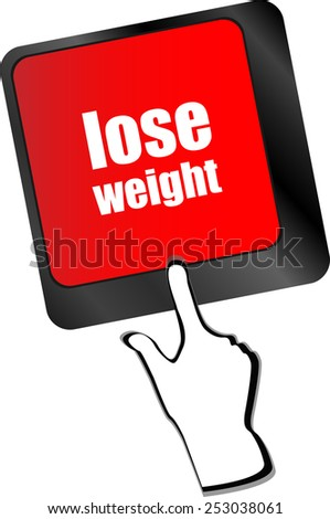 Lose weight on keyboard key button - stock vector