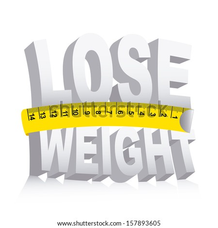 lose weight over white background  vector illustration - stock vector