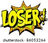 loser - stock vector