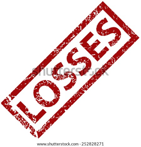 Losses grunge rubber stamp on a white background. Vector illustration