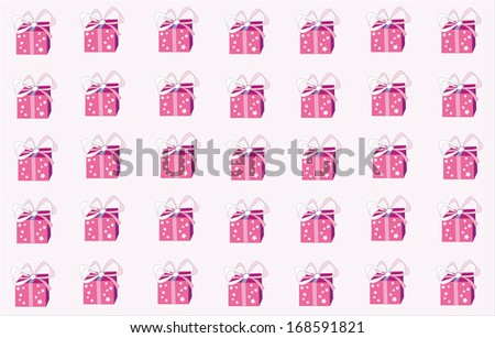 Lot of Christmas Gifts - stock vector